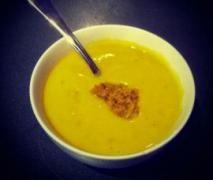 Sweet Potato & Gingered Red Lentil Soup