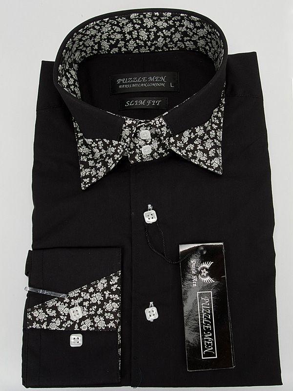 1889 Puzzle Men Shirt-Black