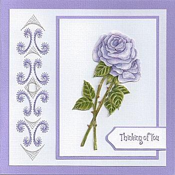 lila roos met borduur maart 2013
