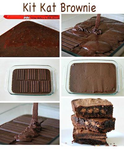 Kit Kat Brownie Recipe