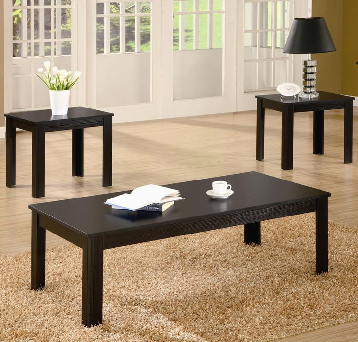 2018 3 Piece Black Coffee Table Sets Best Spray Paint For Wood Furniture Check More