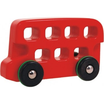 Bajo Double Decker London Bus - Large    What better way to see London than in a big red London Bus. This Double Decker Bus from Bajo is a lovely addition to a little ones toy library.  available at www.childrensdept.com.au