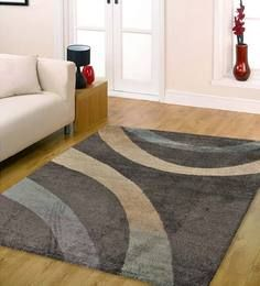 Ambadi Dark Gray Abstract European Floor Rug