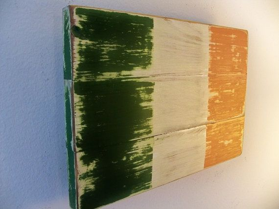 Distressed Irish Flag Wood Wall Hanging