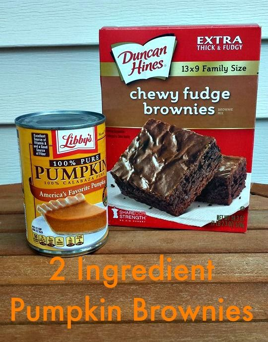 2 Ingredient Pumpkin Brownies Low Weight Watchers Points Plus Value
