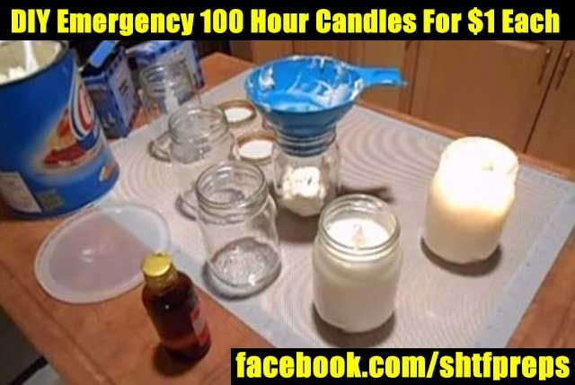 DIY Emergency 100 Hour Candles For $1 Each - SHTF Preparedness