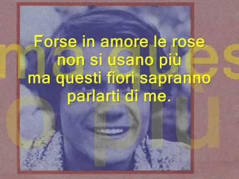ROSE ROSSE Massimo Ranieri  lyric (Learn italian singing)