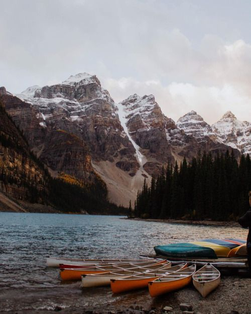 Wishing I was here right now, but also relishing my little home office with unlimited coffee and complete control over the playlist ✌️ (at Moraine Lake)