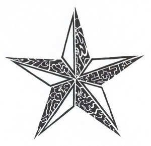Tribal Star Tattoo image - vector clip art online, royalty free & public domain