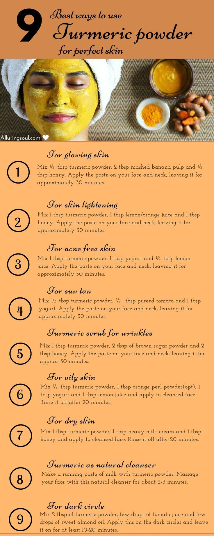 10 Turmeric Face Mask For Glowing And Beautiful Skin ...