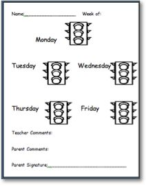 behavior charts for preschoolers template
