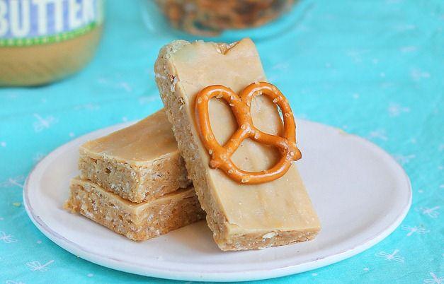 peanut butter pretzel bars: Fun Recipes, Peanut Butter Pretzel, Peanuts, Pretzel Bars, Savory Recipes, Healthy Snack, Pretzels