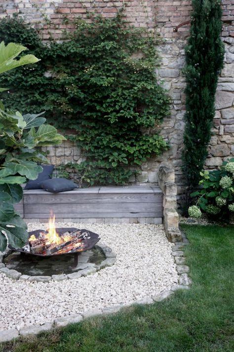 DIY Feuerecke, Garten anlegen, Feuerecke gestalten, Garteninspiration, Gartenblog