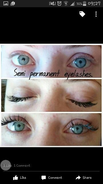 Semi permanent lashes...