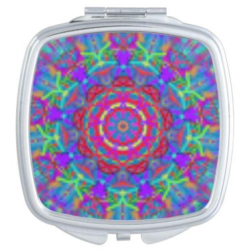 Blue Universe Mandala Pocket Mirror