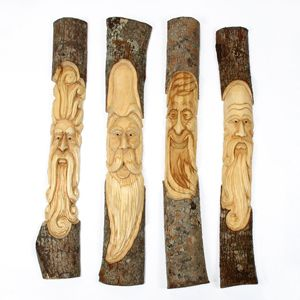 Forest Men and Forest Wizards #Fairtrade from #sticksartstones @Sticks Ph Ph Ph Ph Ph Ph Ph Ph Ph ArtStones #craft #garden