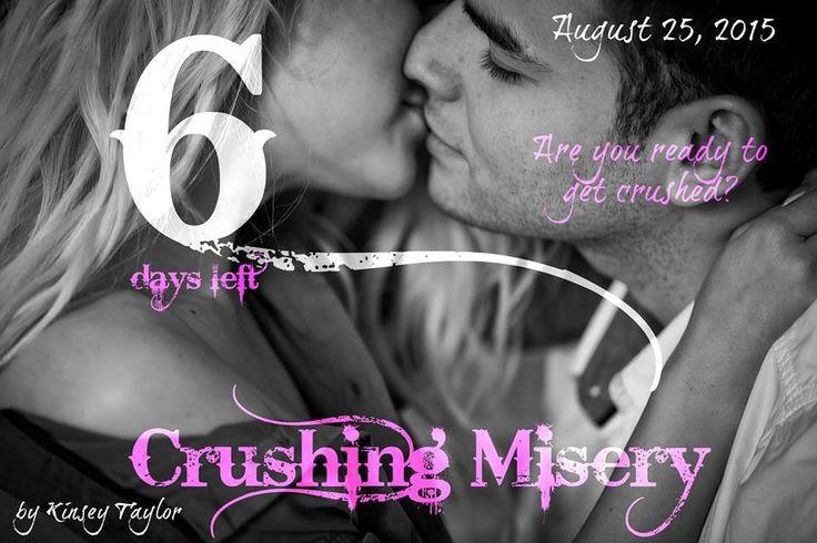 6 more days until my debut novel, Crushing Misery. Eek!!