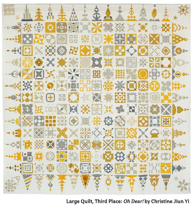"""""""Oh Dear"""" (Dear Jane quilt) by Christine Jiun Li. 3rd place large quilts. 2015 Northwest Quilting Expo, Portland OR"""