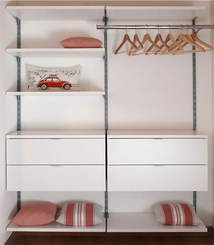 begehbarer kleiderschrank diy mit regalschienen kleiderstange regalb den und aufh ngbaren. Black Bedroom Furniture Sets. Home Design Ideas