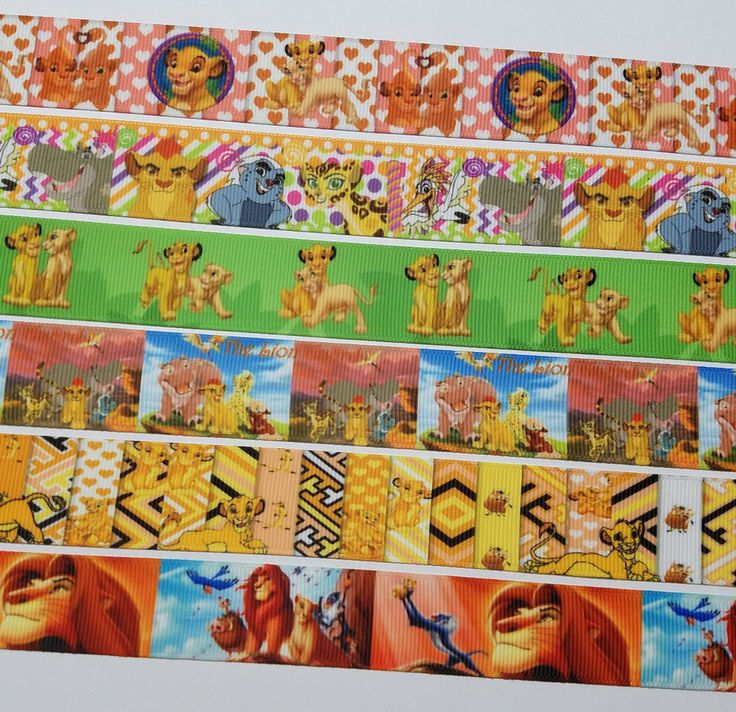 6  Yards Mixed Lot The Lion King/The lion Guard   Inspired Grosgrain Ribbon  #Unbranded