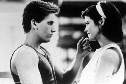 The Breakfast Club (movie) (L-R) Emilio Estevez as Andy and Ally Sheedy as Allison in ``The Breakfast Club.''