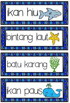 Indonesian SEA WORDS word wall  32 sea words (in bahasa) with cute pics + 3 word searches (Jr, Middle and Upper) + using a bilingual dictionary sheet (sea words)  Great for word walls, displays, flash cards, games etc. Word searches include answers.  Prefer a different spelling (ie...