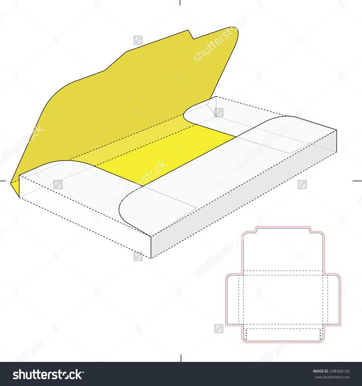 Folder Sleeve With Die Cut Template Stock Vector Illustration 248368126 : Shutterstock