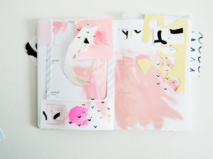 ink + painting by Boheme Circus at @studio_calico #paintplanplay classroom