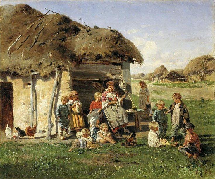 Маковский В.Е. «Крестьянские дети», 1890, Харьковский художественный музей