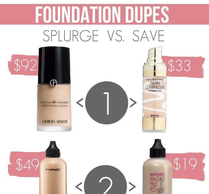 Foundation Dupes: Splurge vs. Save