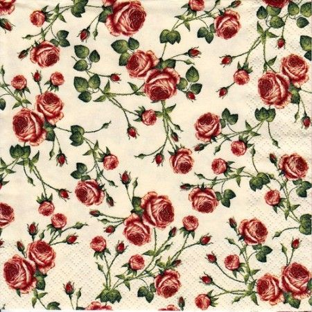Szalvéta i1784b  Small Roses creme