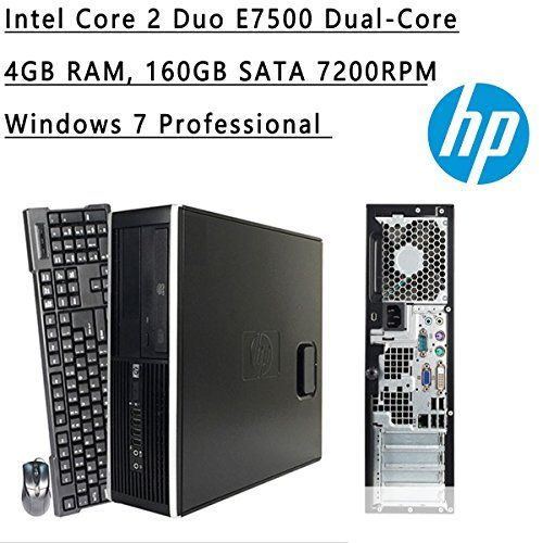 Introducing HP Flagship High Performance Small Form Factor Desktop  Intel Core 2 Duo E7500 DualCore  293 GHz  3MB Cache  4GB RAM  160GB HDD  DVDROM  Windows 7 Pro Black Certified Refurbished. Great product and follow us for more updates!