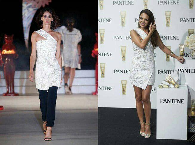 Paula Echevarría con un vestido de la colección resort 2018 de Alvarno