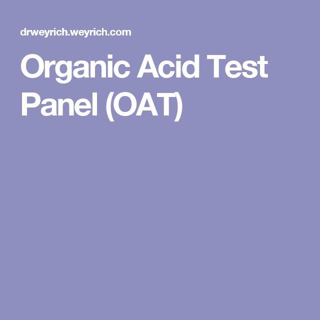 Organic Acid Test Panel (OAT)