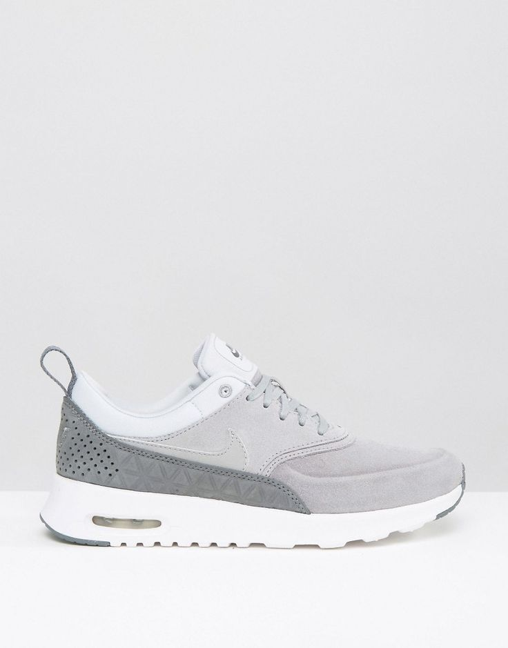 Image 2 of Nike Air Max Thea Trainers In Premium Grey Nubuck