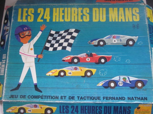 vintage 1960s alain gr e game board les 24 heures du mans vintage 1960s and game. Black Bedroom Furniture Sets. Home Design Ideas
