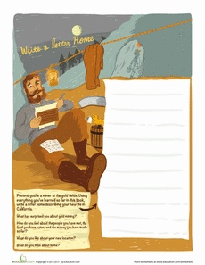 Writing Home Worksheet