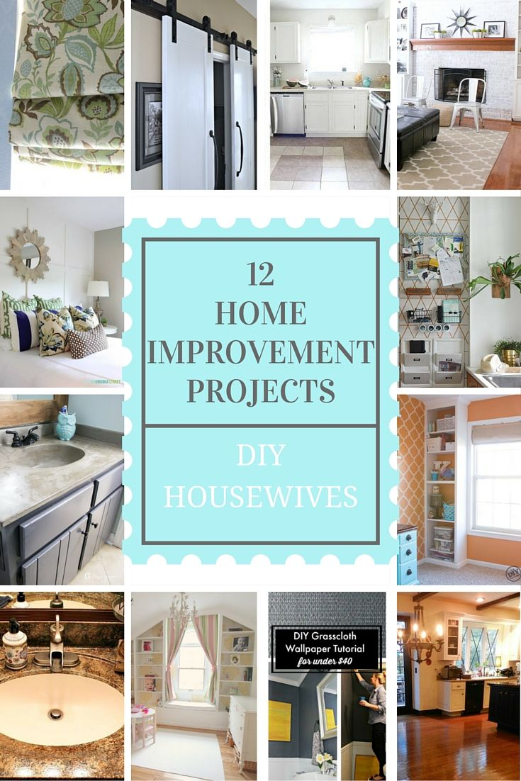 DIY Home Improvement Projects that you're going to want to try yourself. Lots of variety from concrete countertops to mini blind makeovers.