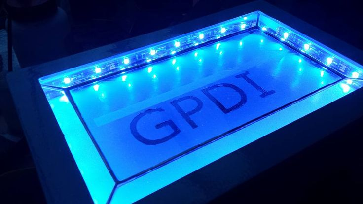 Made the logo of GDPI with led. It can change colours! By RannDago.