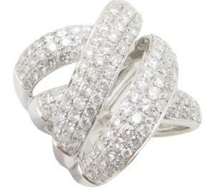 white luxury ring