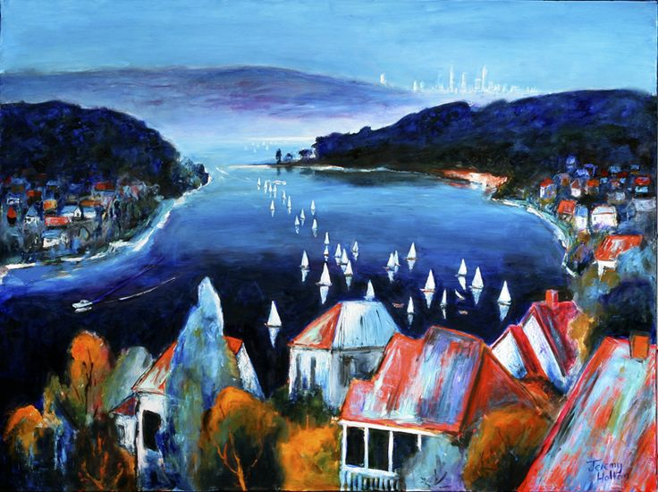 'Deep Blue Day' 91 by 120 cms Oil on Canvas by Jeremy Holton http://www.jeremyholton.com  A friend of mine used to say that the sky is much bigger in Perth. Most of all its the Swan River that makes Perth the wonderful city it is. Above all its Blue, the sky is Blue, the river is Blue, the whole world is BLUE.  #painting #perth #australia #art  https://plus.google.com/u/0/104359568476968412848?rel=author