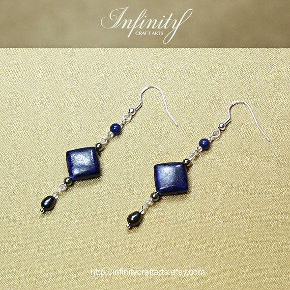 #Gemstone #Lapis #Lazuli #earrings #Pyrite by #InfinityCraftArts on Etsy https://www.etsy.com/ca/listing/238906953/gemstone-lapis-lazuli-earringspyrite?ref=shop_home_active_7