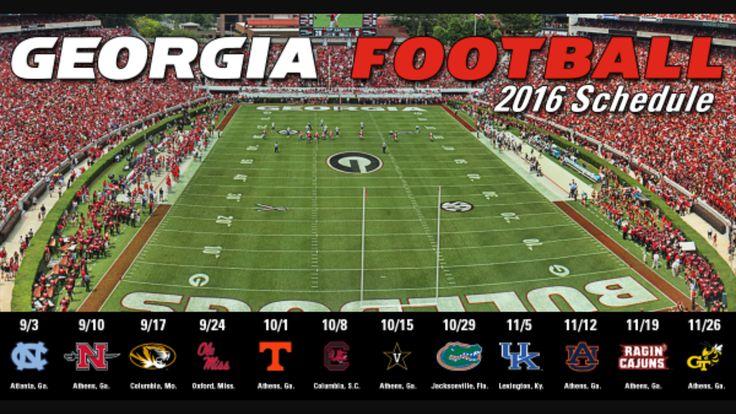 2k16 Georgia Football schedule   ❤️