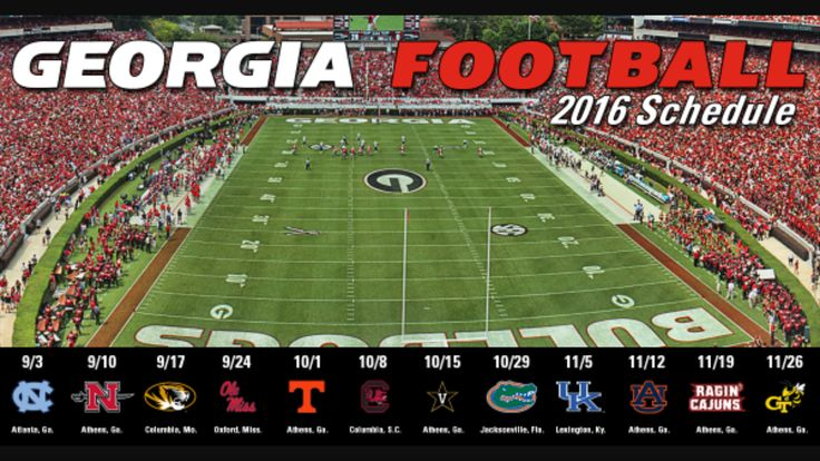 2k16 Georgia Football schedule 🐾 🏈 ❤️