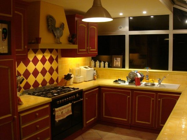 red yellow kitchen for the home pinterest