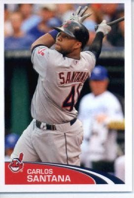 2012 Topps Baseball MLB Sticker #61 Carlos Santana Cleveland Indians by Topps Stickers. $1.95. Single 2012 Topps MLB Sticker. Sticker is in MINT condition and shipped in a protective topload holder. Look for thousands of other great sportscards of your favorite player or team. MLB Baseball Collectible Sticker From Topps