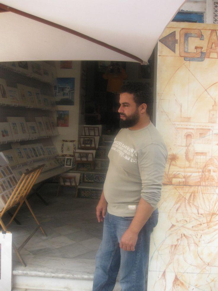 художник из Сиди Бу Саида