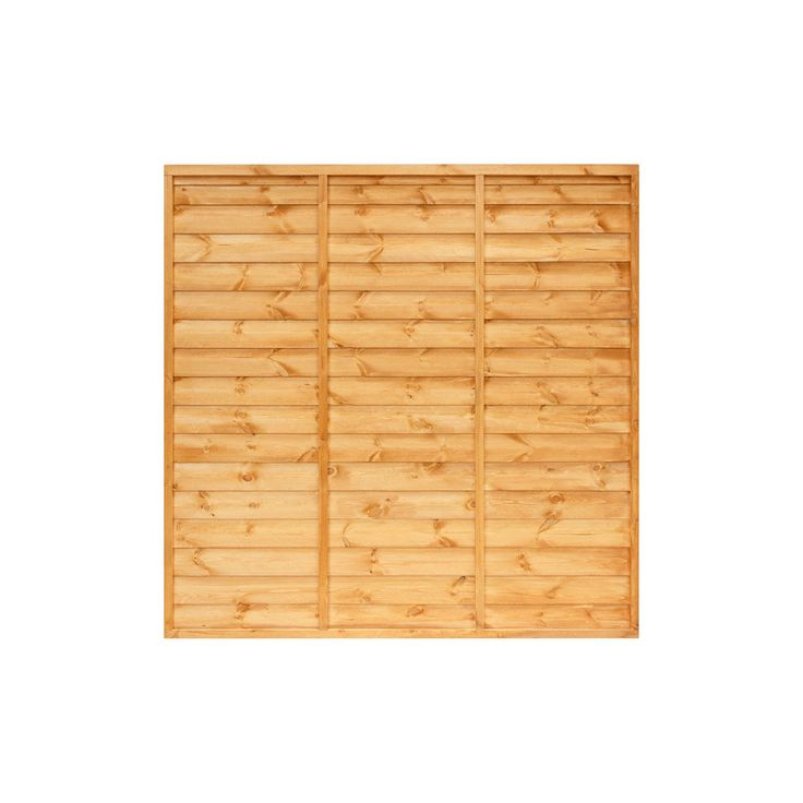 Primo Overlap Fence Panel (W)1.83m (H)1.5m, Pack of 4 | Departments | DIY at B&Q