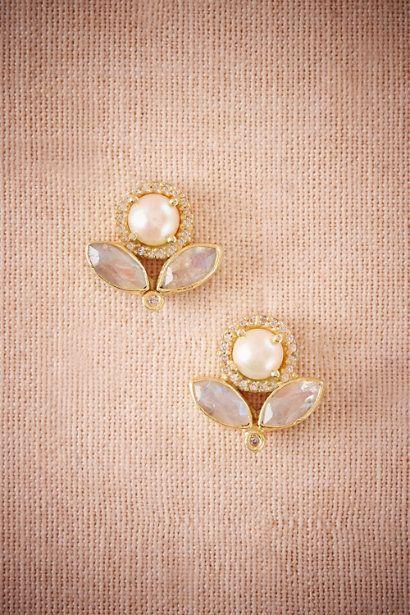 BHLDN Bella Luna Post Earrings in  Bride Bridal Jewelry at BHLDN