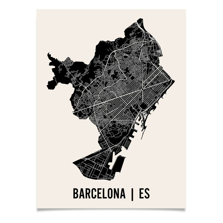 11 best Barcelona Map images on Pinterest  City maps Graphics